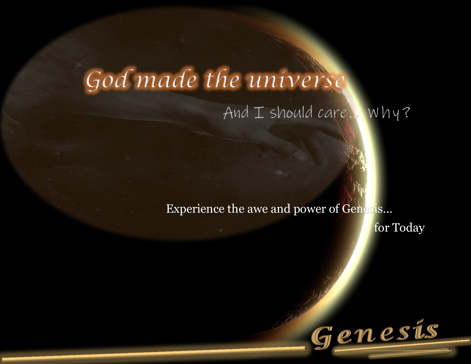 Reimagine Genesis experience the awe of Genesis for today