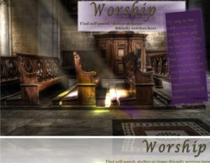 Worship   Shelter at home friendly worship services