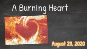 Sunday Worship August 23rd 2020